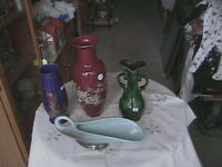 POTTERY VASES AND OTHER POTTERY