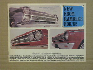 1965 American Motors Including Rambler Car Dealer Brochure.