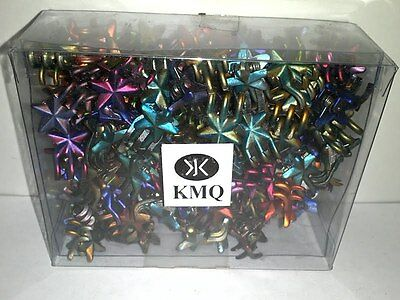 Mini Claw Star Snap Hair Clips Dark Chrome Colors Styling Wholesale Lot Of 288