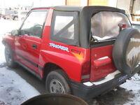 Parting out 1991 to 1997 Suzuki Sidekicks
