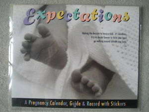 EXPECTATIONS - A Pregnancy Calendar, Guide & Record with Sticker