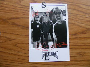 FS: Metallica (Membership Club) Signatures Photo