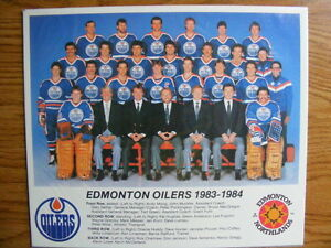 "FS: 1983-84 ""Edmonton Oilers"" Northlands Promotional Team Photo London Ontario image 1"