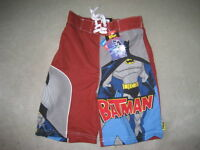 BRAND NEW BATMAN SWIM TRUNKS - SIZE 5