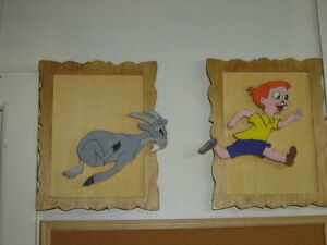 VINTAGE WHIMSICAL WOOD CUT OUTS