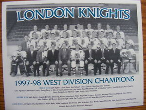 "FS: 1997-98 London Knights (OHL) ""West Division Champions"" Team London Ontario image 1"