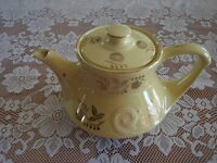Teapot - Embossed in 22K Gold