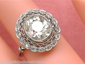 ESTATE-EDWARDIAN-3-05ct-MINE-DIAMOND-EGL-CERT-J-SI1-PLATINUM-ENGAGEMENT-RING