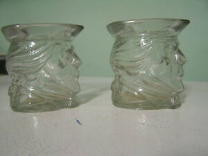 Set of  Glass Avon Dishes