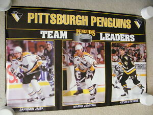 "FS: 1993 Pittsburgh Penguins ""Team Leaders"" Sheet London Ontario image 1"