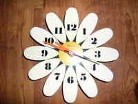 "vintage 1960's ""flower power"" clock"
