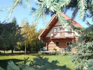 Lakefront log cottage on Brightsand Lake, SK