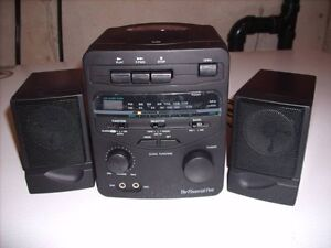 AM/FM cassette/clock mini stereo