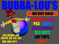 BUBBA-LOU'S IS BUYING ALL VIDEO GAMES AND SYSTEMS