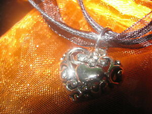 SILVER HEART NECKLACE__NEW!!