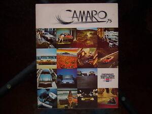 1975 Chevrolet Camaro dealer showroom catalog London Ontario image 1