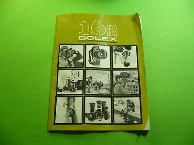 202K02 BOLEX 16mm Programm Prospekt H16 RX-5, SBM, EBM Electric, EL, 521, 1978
