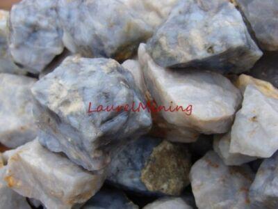 NATURAL BLUE CHALCEDONY QUARTZ - 1000 CARAT Lots - GEMSTONES Raw & Uncut Rough