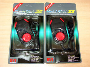 *NEW* Atari/Commodore/Spectrum/Amiga/C64 - 2x Quickshot VII Joystick Controller