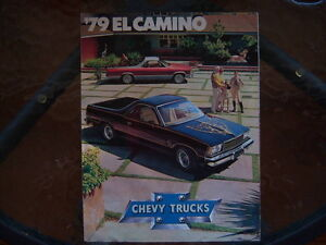 1979 Chevrolet El Camino dealer showroom folder