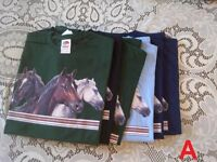 Fruit of the Loom T-shirts - Horse Designs