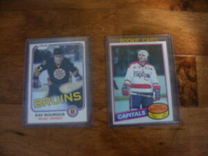 Cartes de hockey Vintage de Mike Gartner RC et Raymond Bourque