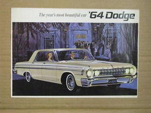 1964 DODGE Car Dealer Brochure.