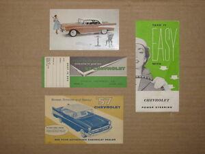1957 Chevrolet Original Dealer Promo Items.