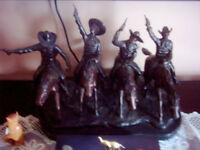 "Frederic Remington's ""Coming through the rye"" sculpture"