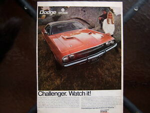 1970 Dodge Challenger 440 R/T ad..........Mopar Muscle Car London Ontario image 1