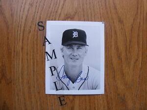 FS: Doug Bair (Detroit Tigers) 4x5 black & white Autographed Pho London Ontario image 1