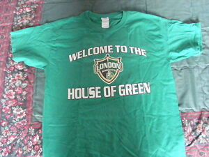 """FS: 2004-05 London Knights """"Welcome To The House Of Green"""" Tee-S London Ontario image 1"""