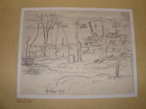"FS: A.Y. Jackson's ""Halifax 1919"" Working Drawing Print"