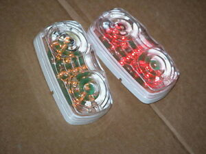 4 inch Round Red Trailer light Kits & LED side markers