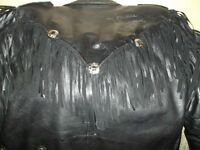 """DIO""  RONNIE JAMES DIO, SIGNED LEATHER COAT BLACK SABBATH"