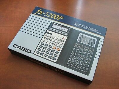 NEW Very RARE Vintage 1985 Casio FX-5200P LCD BASIC pocket computer calculator