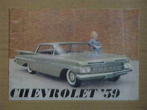 1959 Chevrolet Full Size Car Line Up Dealer Brochure.