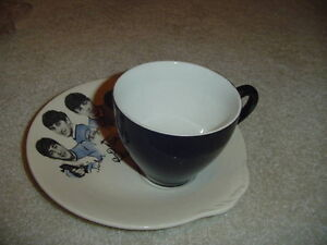 Beatles Plate & Cup (1964 Washington Pottery)