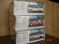 Six piece 409 Chevy car model set in 1/25 scale.