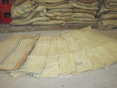 10x Jute Sack Säcke gereinigt dickes strapazierfähiges Gewebe 75 /100 kg