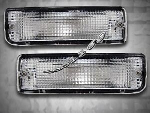 89 95 toyota pickup 90 91 4runner clear bumper lights. Black Bedroom Furniture Sets. Home Design Ideas