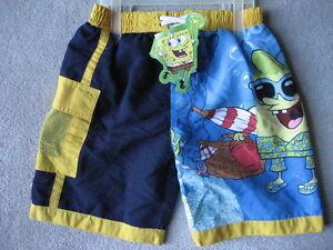BRAND NEW Spongebob Swim Trunks - Size 4