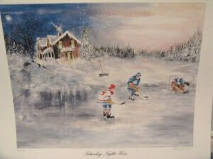 """Saturday Night Hero"" hockey limited edition print"