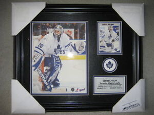 BRAND NEW - ED BELFOUR TORONTO MAPLE LEAFS FRAMED PHOTO