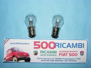 FIAT-500-F-L-R-COPPIA-LAMPADINE-LUCE-STOP-FANALINI-POSTERIORI-BAY15D ...