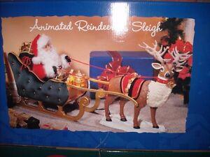Animated Reindeer and Sleigh