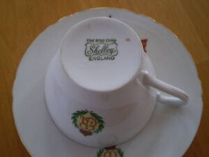 SHELLEY CUP AND SAUCER QUEEN ELIZABETH'S VISIT TO CANADA 1959 Windsor Region Ontario image 2