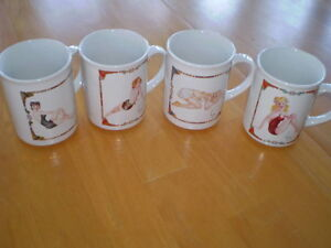 MUGS VINTAGE PICTURES OF PIN UP GIRLS