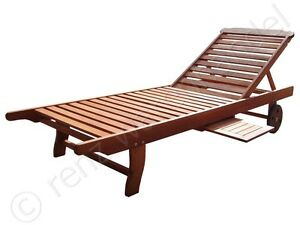 holz sonnenliege gartenliege deckchair liege rollliege fsc. Black Bedroom Furniture Sets. Home Design Ideas