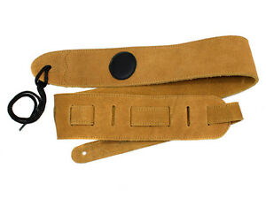 Tan Suede Leather Guitar Strap for Acoustic, Electric, Bass - Top Quality - New